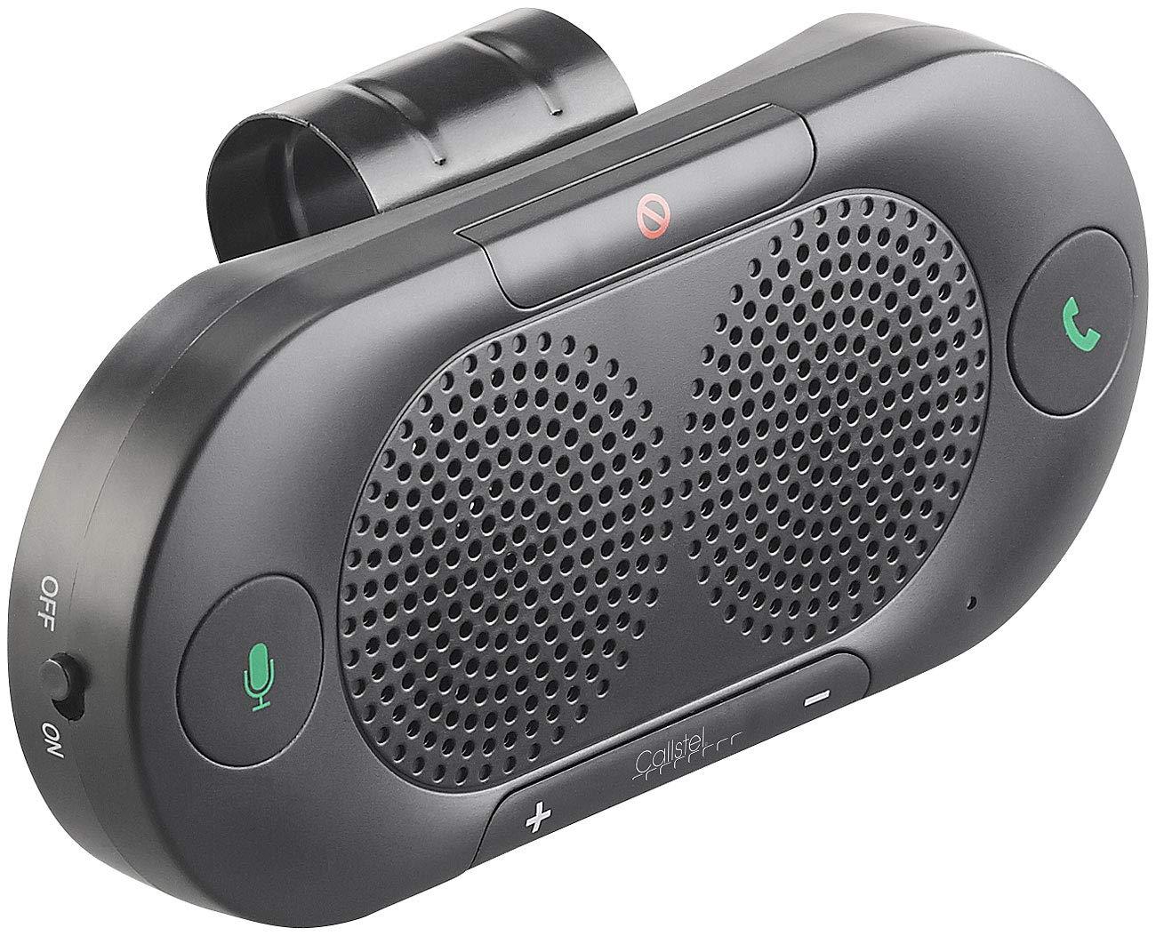 Freisprecheinrichtung f/ürs Auto und Google-kompatibel Siri Callstel Freisprechanlage Pkw Stereo-Kfz-Freisprecher mit Bluetooth 5