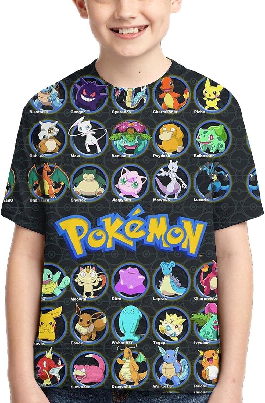 Amamoi Boy's Tshirt 3D Print Fashion T-Shirt Short Sleeve Tee Outdoor Shirt for Kids Teen Youth: Clothing
