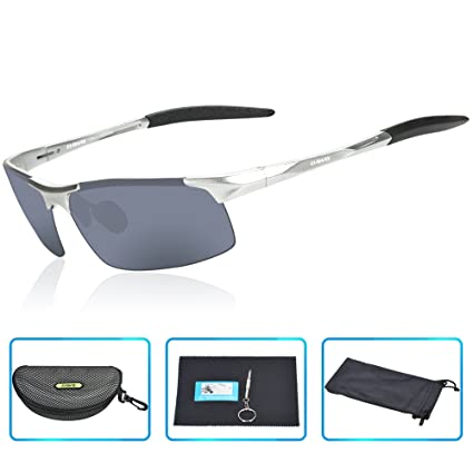 583b872dd8 DAWAY SG06SG Mens Polarized Sports Sunglasses for Golf Fishing Cycling  Driving - UV 400 TAC Lens