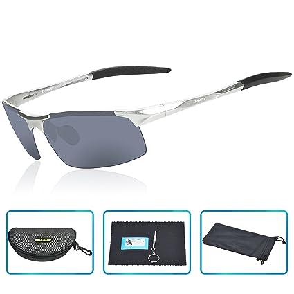 ecdb1e8fc8 DAWAY SG06SG Mens Polarized Sports Sunglasses for Golf Fishing Cycling  Driving - UV 400 TAC Lens