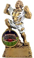 Fantasy Football FFL Monster Trophy - Engraved Plates by Request - Perfect Football Award Trophy - Hand Painted Design - Made by Heavy Resin Casting - for Recognition - Decade Awards
