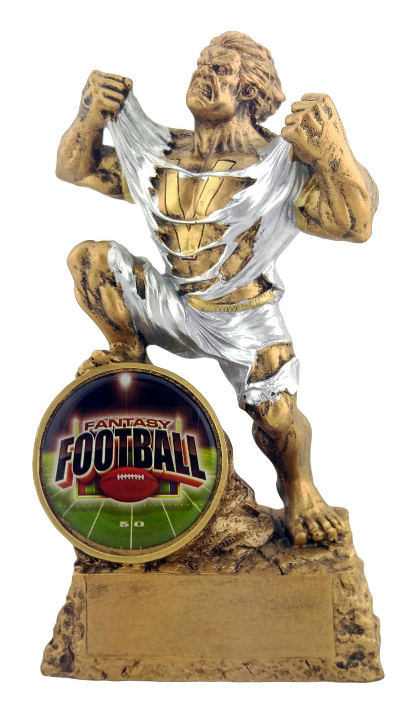Decade Awards Football Monster Trophy | Fantasy Football FFL Beast Award | 6.75 Inch - Free Engraved Plate on Request