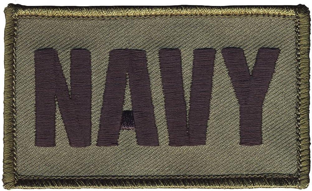 "NAVY 2/"" x 3/"" Hook /& Loop 2 Piece OD Green Patch U.S"