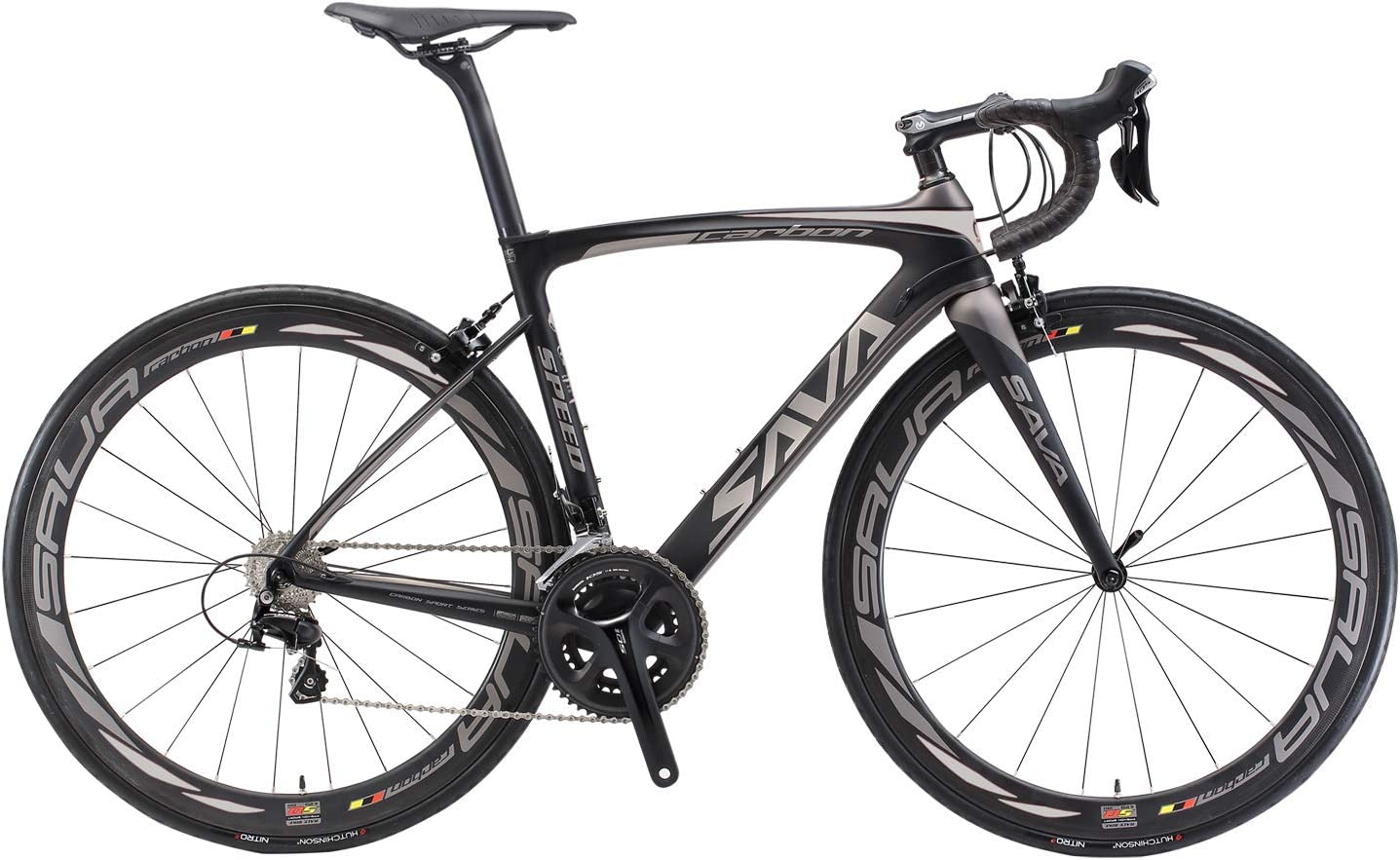 SAVADECK HERD6.0 700C Bicicleta de Carretera de Fibra de Carbono Shimano 105 R7000 22S Sistema de transmisión Michelin Neumático Fizi:k Sillín: Amazon.es: Deportes y aire libre