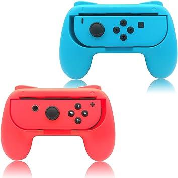 FYOUNG Grip para Nintendo Switch Joy-con Mandos Set, Cómoda Funda ...