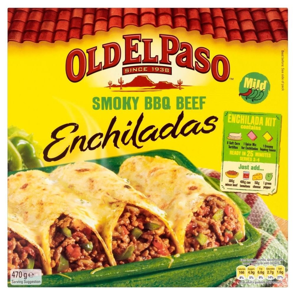 Old El Paso Smoky BBQ Beef Enchilada Kit (470g)