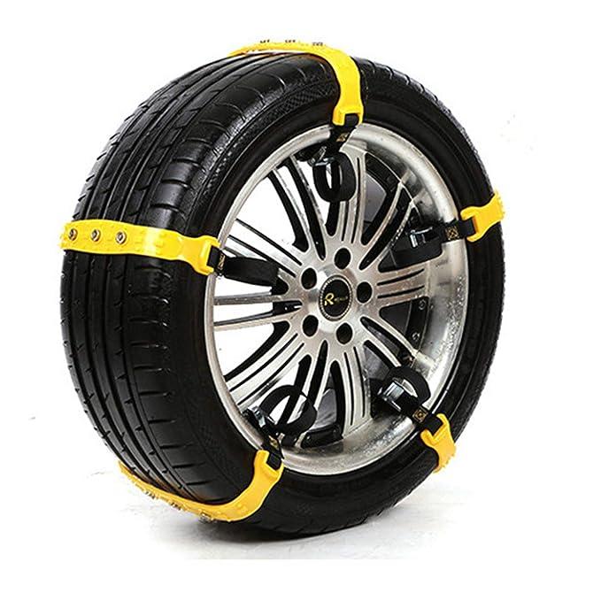 HEIFEN Neumático del Coche Nieve Cadena Nieve Universal Coche SUV SUV Engrosamiento del Tendón Carne Modelo Refuerzo Universal Tendón Material Atrevido ...