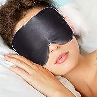 Schlafmaske, Echter Seidenfaden Schlafbrille Verstellbarem Gummiband Super-glatt Sleep Mask