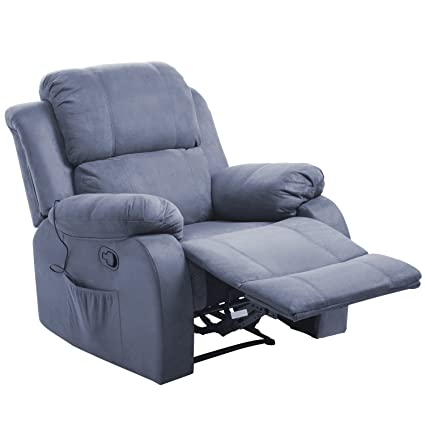 Etonnant Merax Power Massage Reclining Chair With Heat And Massage Heated Vibrating  Suede Massage Recliner