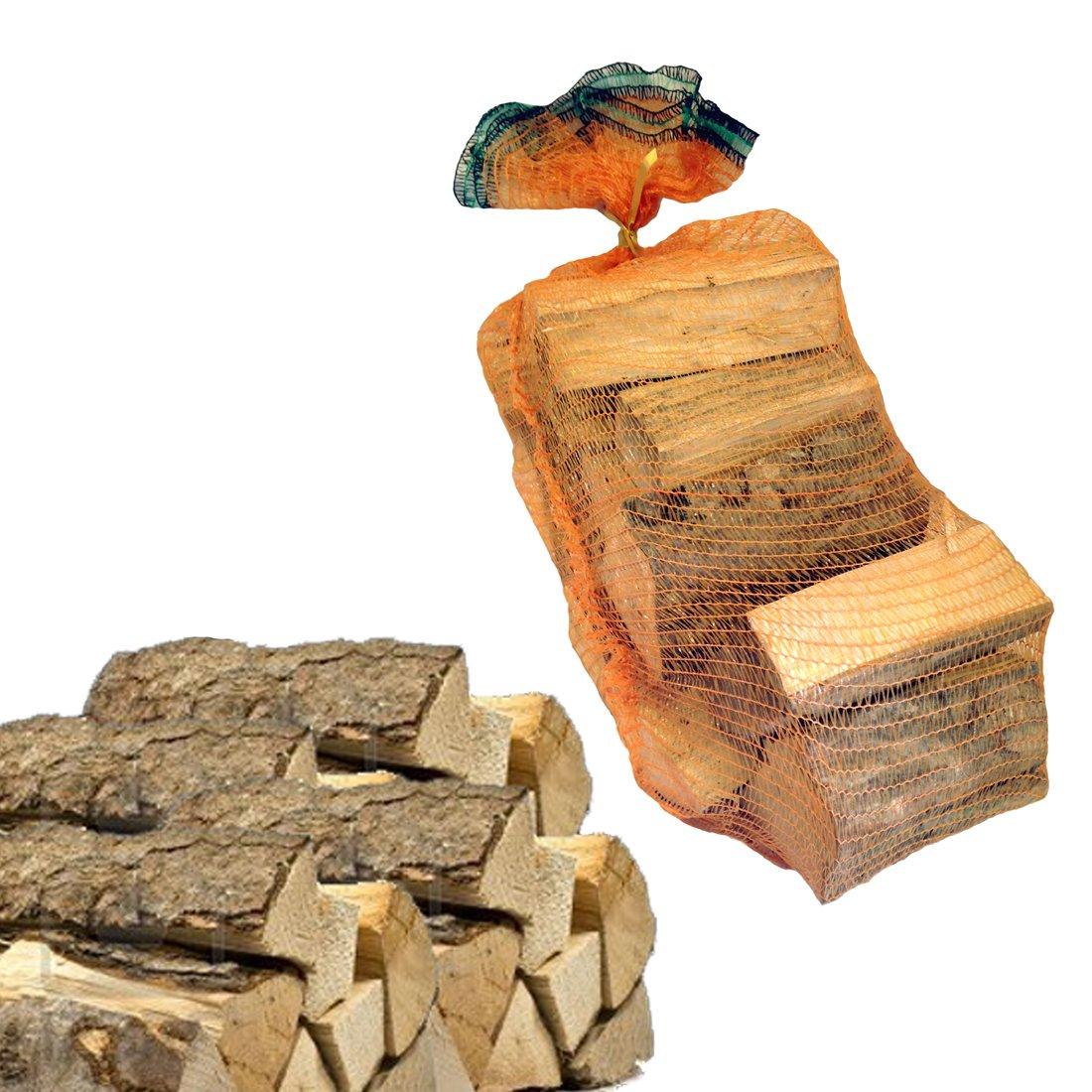 Sacco 15 kg di legna da ardere 100% faggio in tronchetti per camino stufa 33 cm Metroquadrocasa