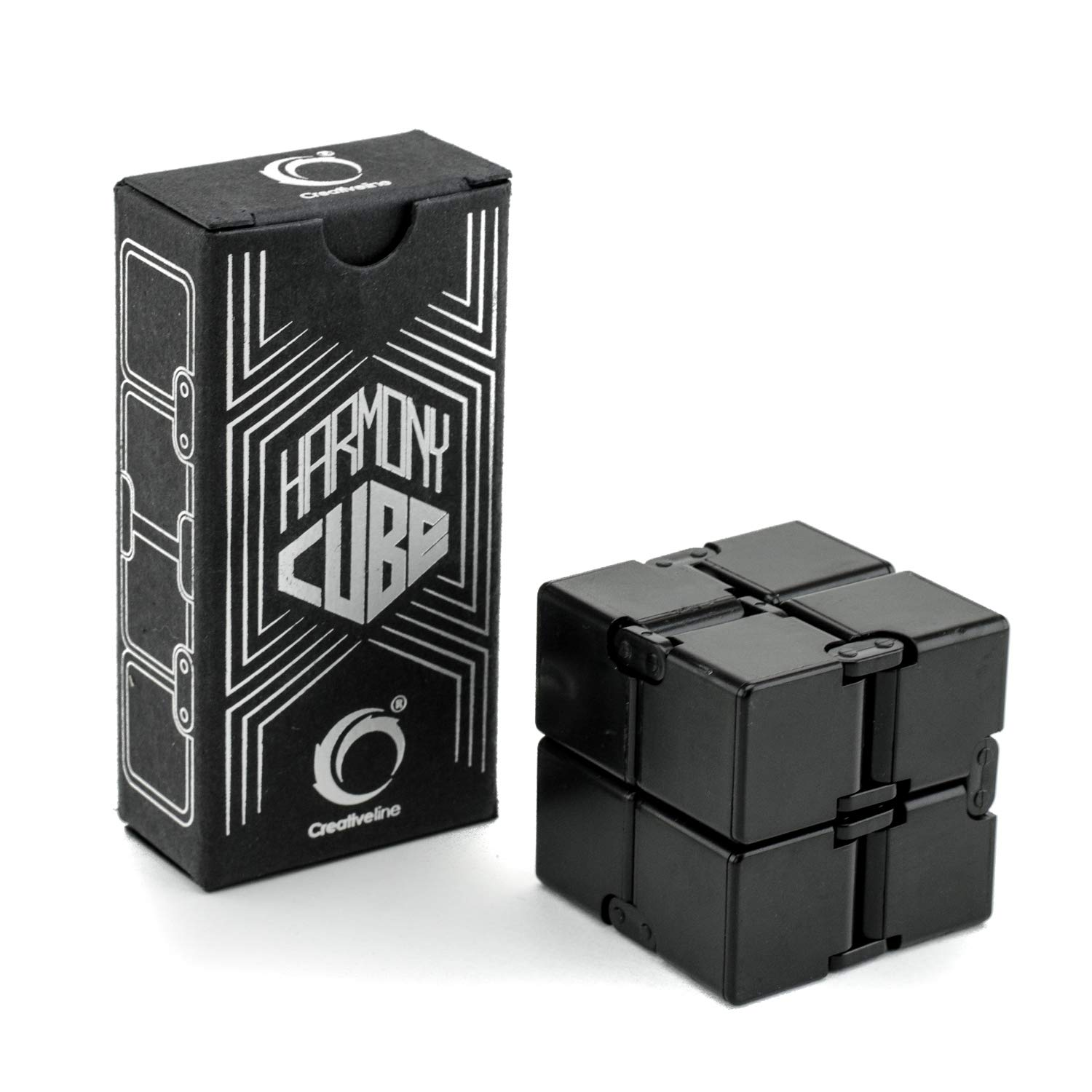 Creativeline Harmony Cube | Calming Toy to Relieve Stress, Anxiety & Kill Time | Magic Mini Gadget Ideal for Office, Travel & Classroom | Therapy for All Fingers & Hands Adults, Teens & Kids