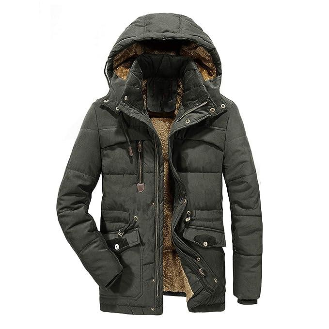 Amazon.com: Chaqueta de invierno con capucha y forro polar ...