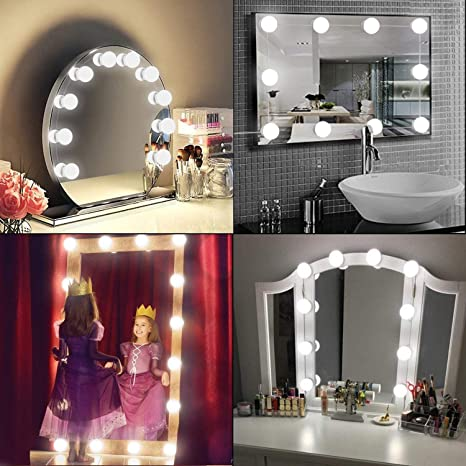 Getseason Vanity Mirror Lights, Hollywood Style LED Makeup Mirror Lights with 10 Dimmable Bulbs,