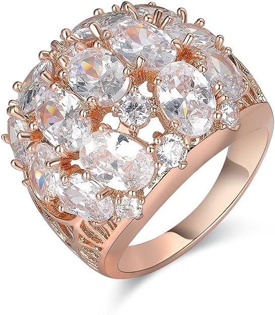 CN/_ Women/'s Big Purple Crystal Finger Ring Wedding Prom Club Party Jewelry Gif