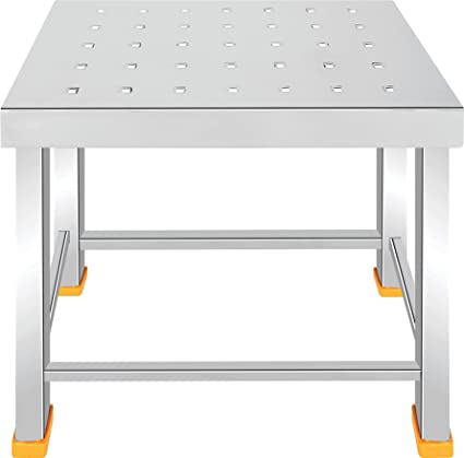 Priya Stainless Steel Kitchen Stool, 13.5x9x11 Inches (White, PPJ)
