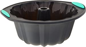Trudeau 05115204M Structured Silicone Fluted Bundt pan, 10 cup, Grey & Mint