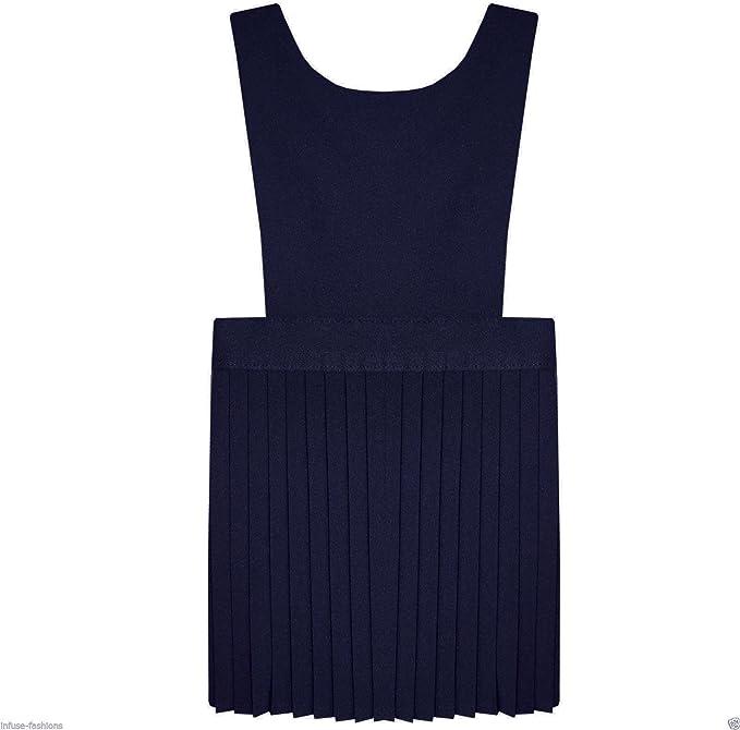 Lovely Girls George Navy Blue School Dress Age 7-8 Years