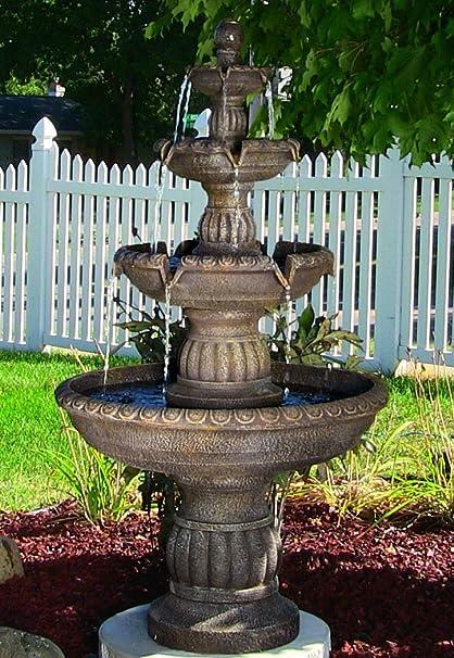 Outdoor Water Fountain Bird Bath Garden Antique Relaxation Electric