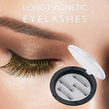 2e13d4bd8f6 New Double Magnetic False Eyelashes - Ultra Thin 3D Fiber Reusable Best  Fake Lashes Extension for