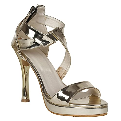 2236d2e9cd25 MISTO Vagon Women and Girls and Formal Synthetic Leather Pencil Heel  Sandal  Buy Online at Low Prices in India - Amazon.in