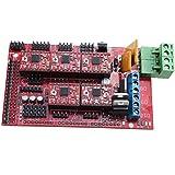 マザーボード,SODIAL(R) RAMPS1.4コントロールボード+5X A4988 ステップスティックドライバモジュール3DプリンターRepRap用
