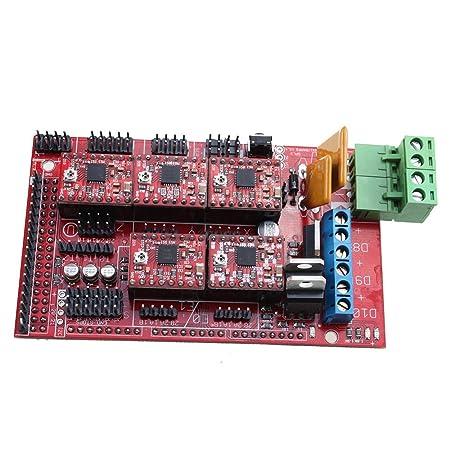 Tabla de control de impresora - SODIAL(R)RAMPS 1.4 Tabla de control + 5X A4988 palillo paso modulo controlador para impresora 3D Rep Rap
