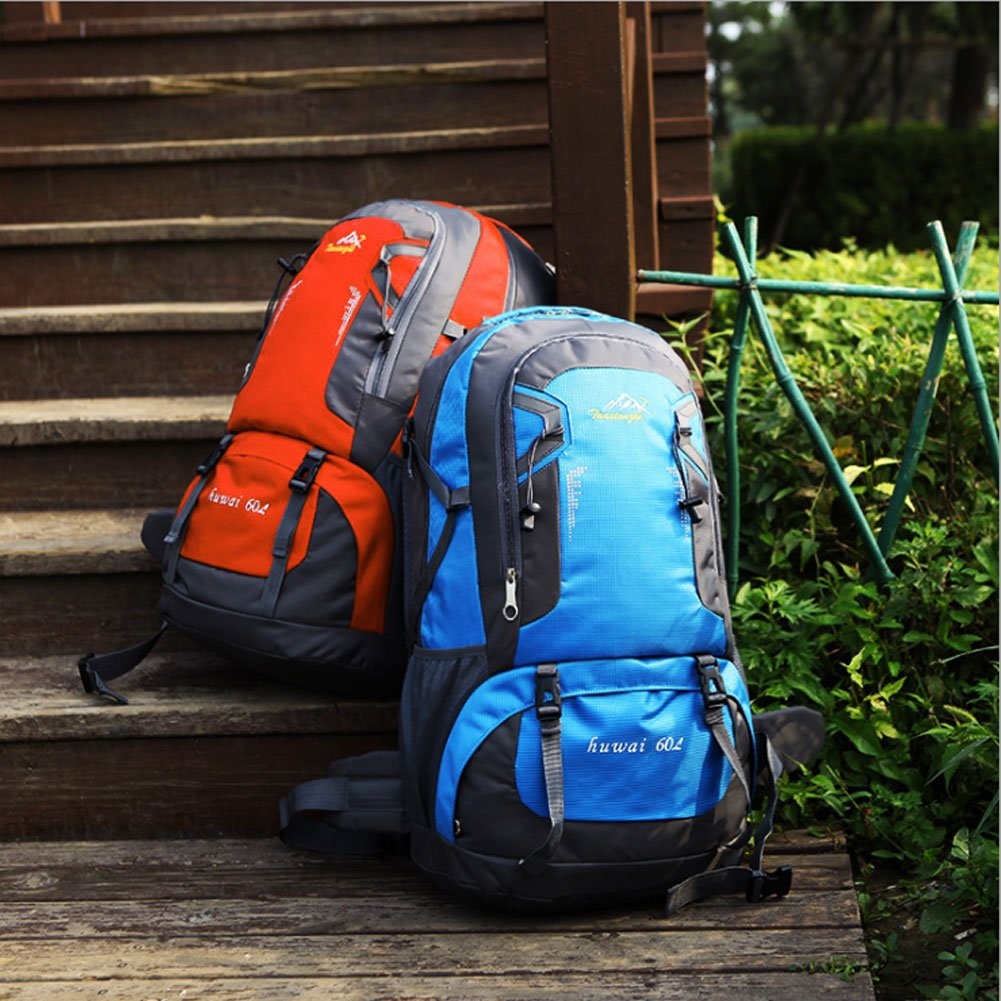Waterproof Hiking Backpacks, Women and Men Lightweight Travel Daypack Sports Bag for Outdoor Travel Camping Climbing (blue 60L)
