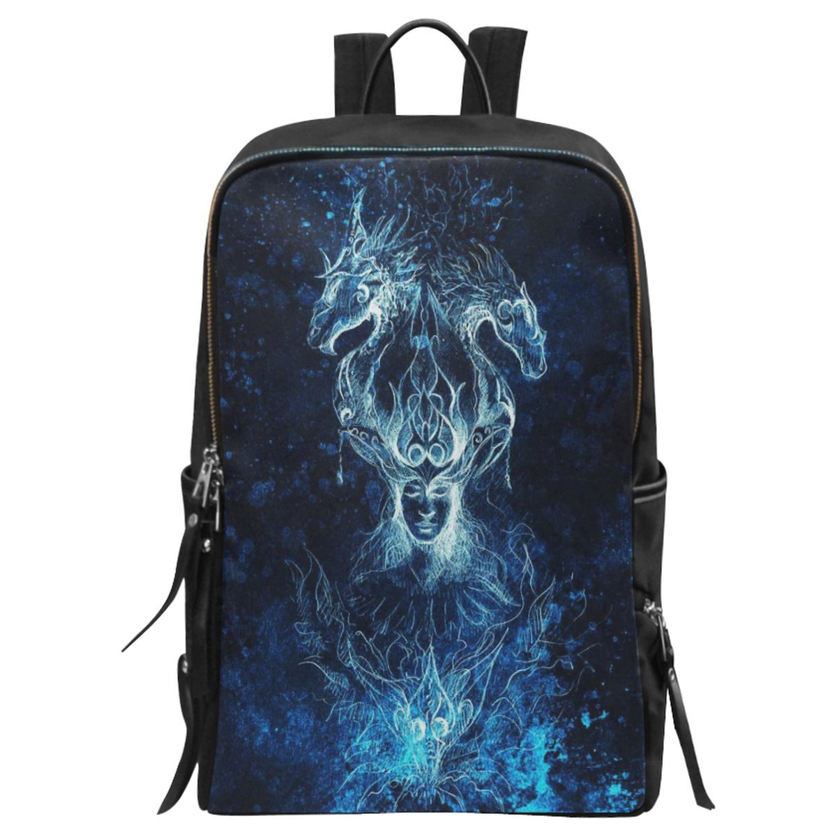 free shipping InterestPrint Animal Fantasy Man with Dragon School Casual  Travel Backpack School Bag Travel Daypack 5ec9194d5b93b