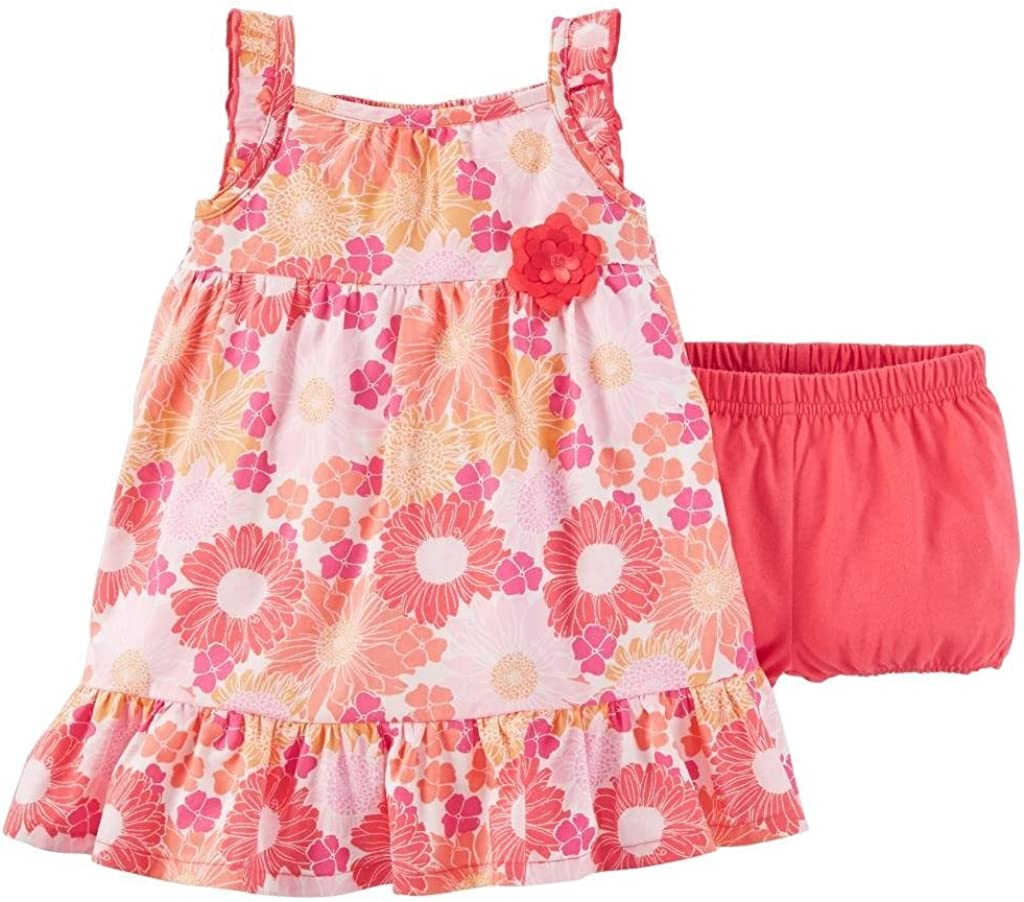Carters Just One You Baby Girls Floral Dress /& Bloomer Set Pink//Multi