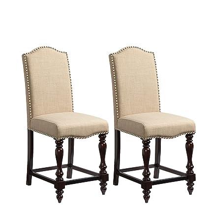 Amazon Com Standard Furniture Mcgregor 2 Pack Upholstered Counter