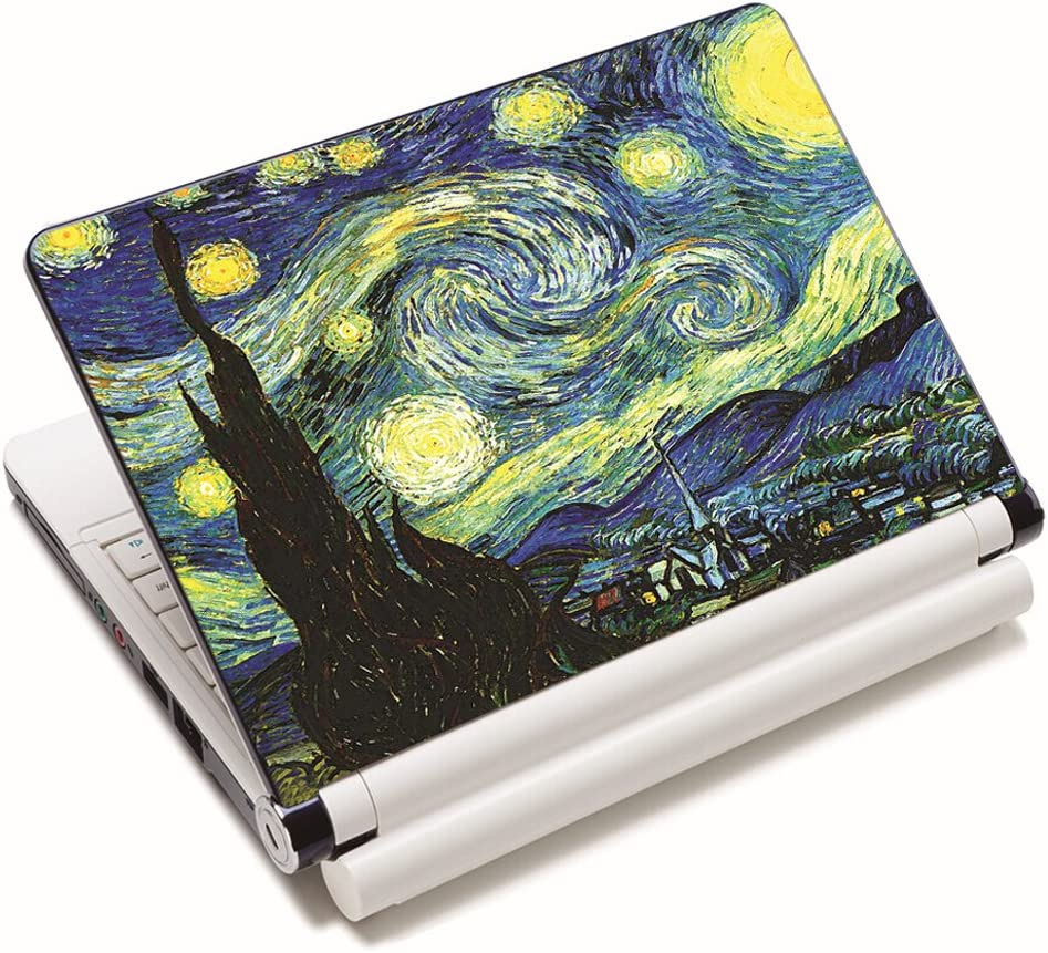 "15.6 inch Laptop Notebook Skin Sticker Cover Art Decal Fits 13.3"" 14"" 15.4"" 15.6"" HP Dell Lenovo Apple Mac Asus Acer (Free 2 Wrist Pad Included) (Starry Night)"