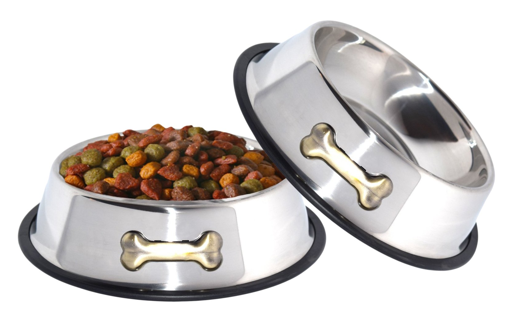 Gpet Dog Bowl 32 Ounce Stainless Steel With Rubber Base That Bowls Wont Slip .. 2