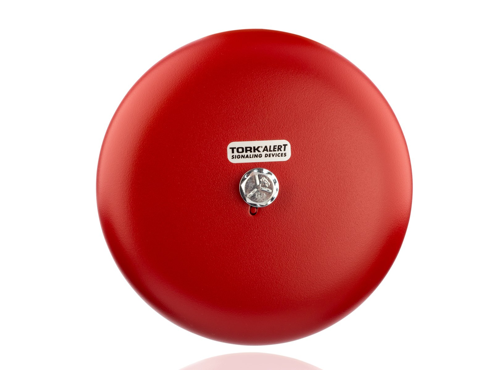 Steel/Aluminum Heavy Duty AC Vibrating Bell, 6'' Shell Size, 120 VAC, 0.065 Amp Input Current, Red
