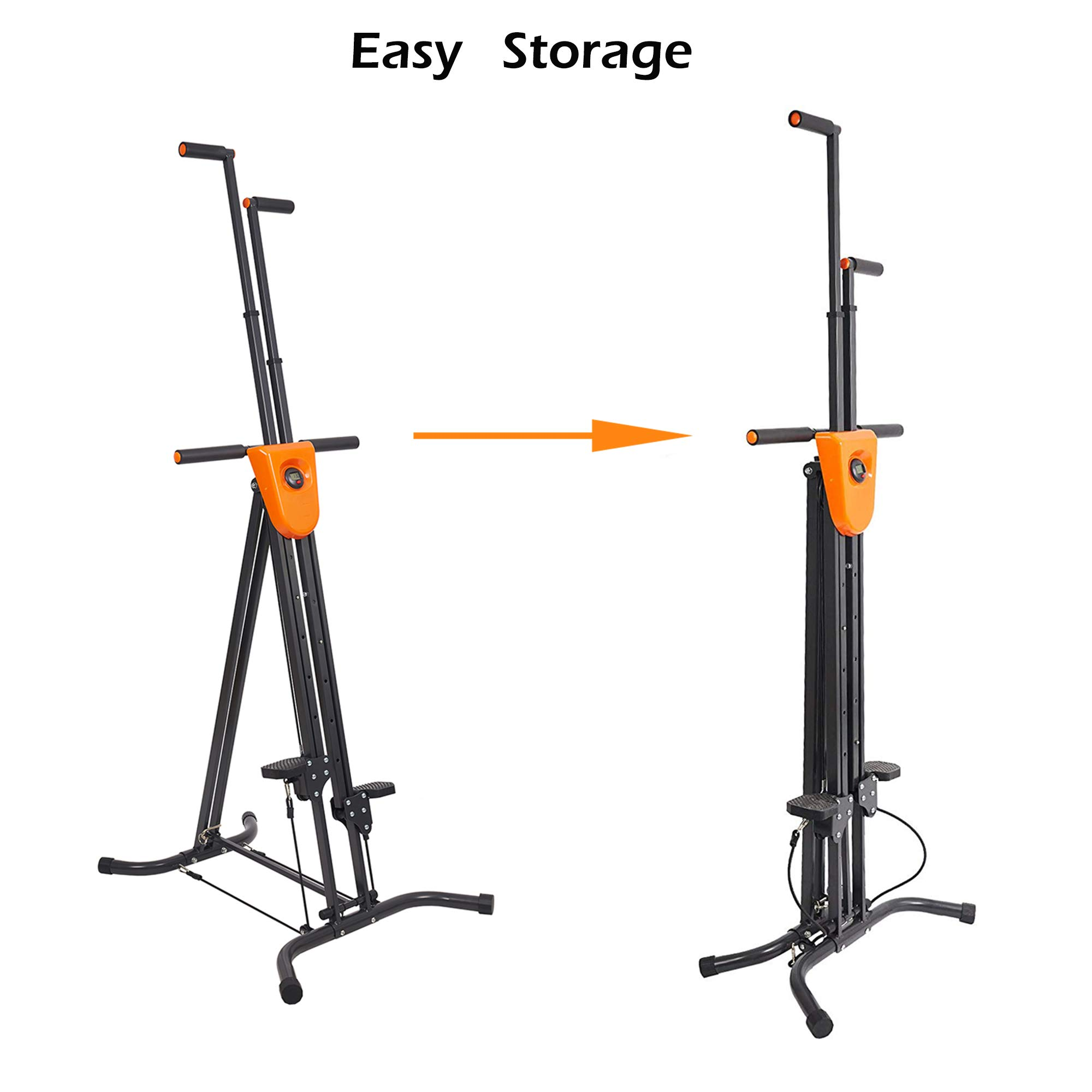 Lucky Tree Stair Climber Exercise Machine Vertical Climber Stairs Gym Home Fitness Folding Stair Stepper Adjustable Height for Women Man Full Total Body Workout by Lucky Tree (Image #5)