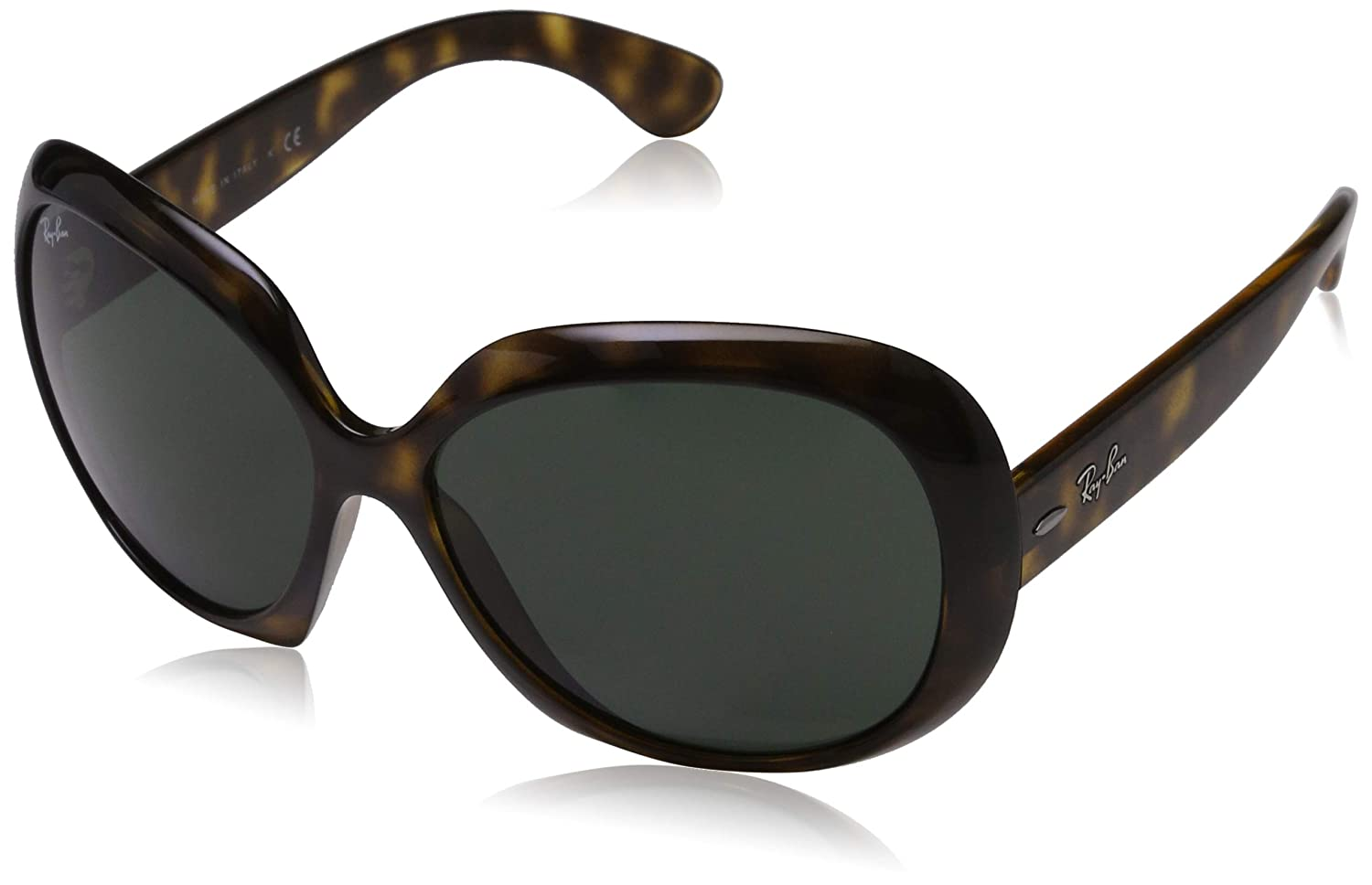 51fe2e86ead Ray-Ban JACKIE OHH II RB4098 710 71 Light Havana Green  Amazon.co.uk   Clothing