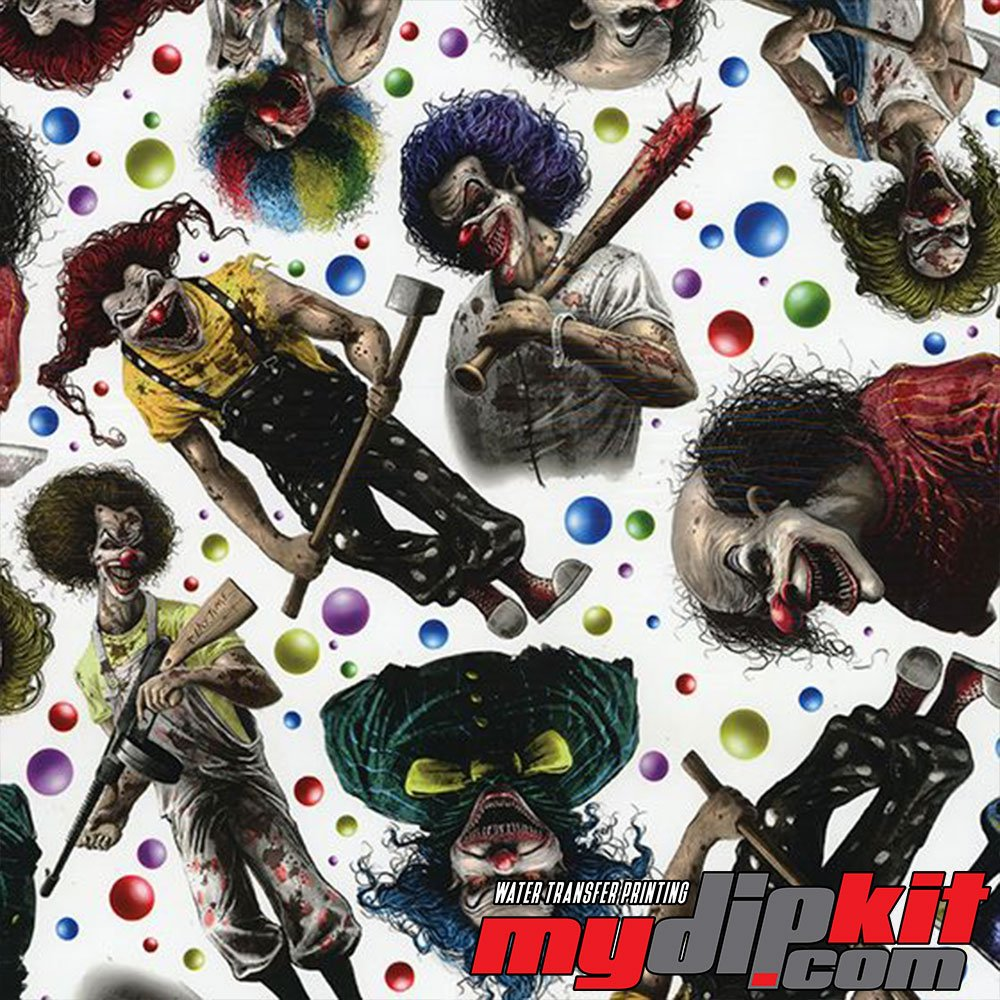 Water Transfer Printing Film - Hydrographic Film - Hydro Dipping - Creepy Clowns - DD-928-A by MyDipKit