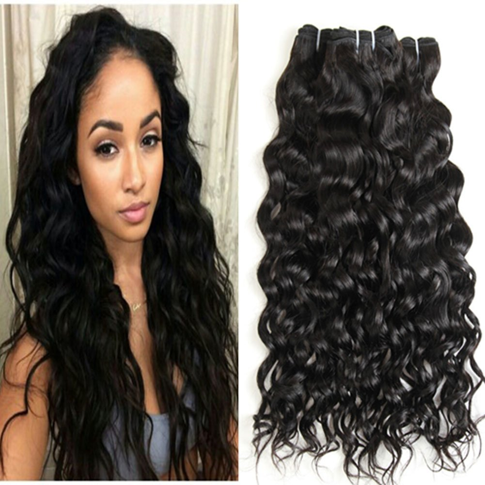 Amazon Prettiharr Water Wave Hair Wave Hair Extensionweft