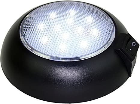 Amazon Com Battery Powered Led Dome Light Magnetic Or Fixed Mount High Power Cool White Led Downlight For Home Auto Truck Rv Boat And Aircraft Home Kitchen
