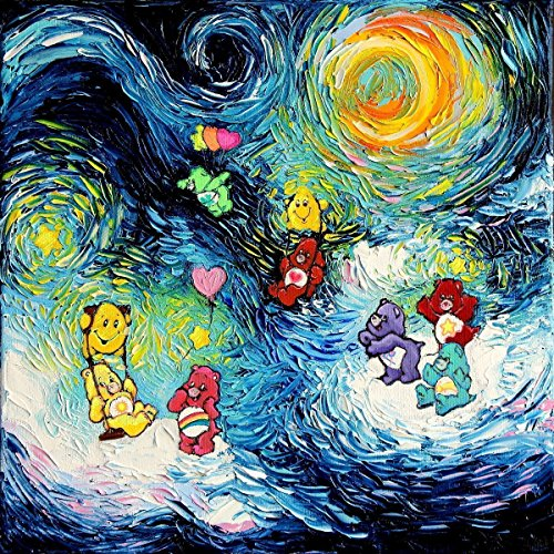 care-bear-inspired-art-fine-art-print-starry-night-bedtime-bear-van-gogh-never-played-in-the-clouds-
