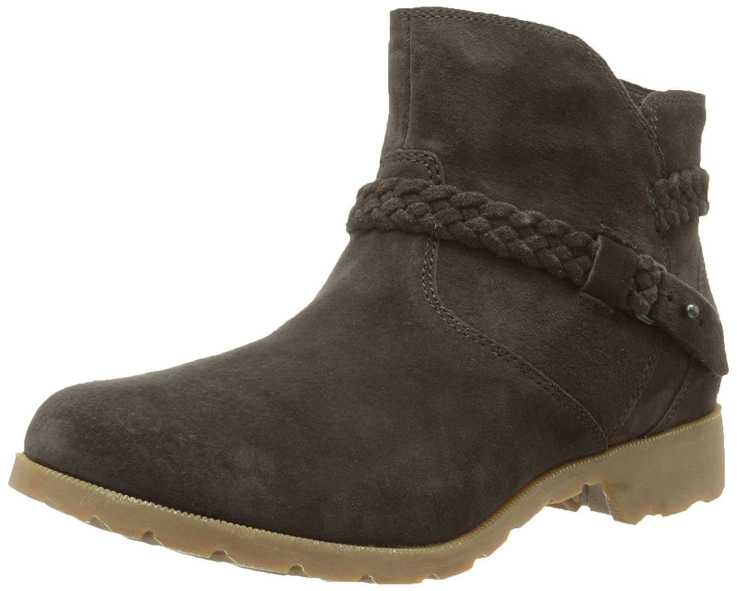 Teva Women's Delavina Suede Ankle Boot B00PS1YSSG 8.5 B(M) US|Black Olive