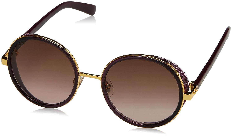 Jimmy Choo Andie N S 1KJ gold purple Plum Andie N S Round Sunglasses Lens Categ