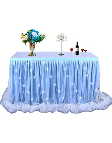 Round Table Skirts Decorator.Amazon Com Table Skirts Home Kitchen