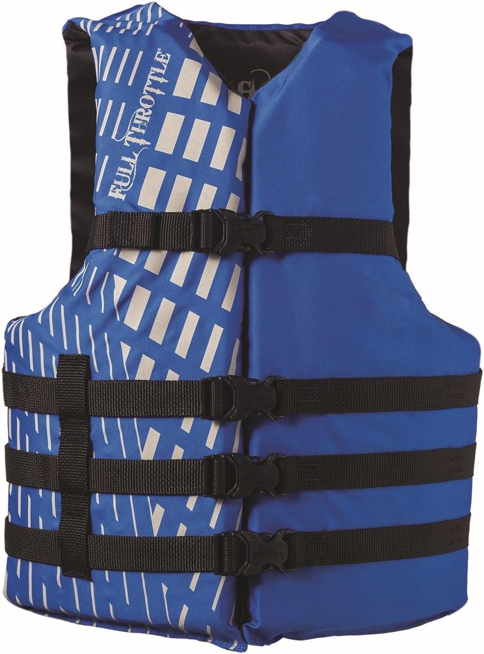 フルスロットル大人用水スポーツベスト、ブルー ブルー