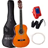 Classical Guitar Acoustic 3/4 Size 36 inch Guitar 6 Nylon Strings Guitar for Beginners Junior Kids Starter Kits with Waterpro