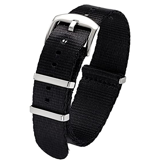 Jewelry & Watches Buy Cheap Nato Watch Strap Nylon Seatbelt 20mm 22mm Black Navy Grey Bond Diver Military High Quality