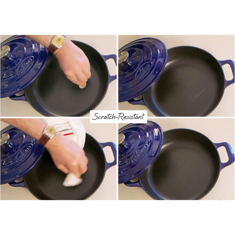 La Cuisine 22 Oz Mini Rectangular Enameled Cast Iron Covered Dutch Oven Black