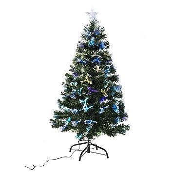 arbol de navidad altura cm estrella y luces led arboles fibra optica