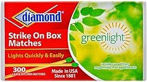 Diamond Greenlight Strike on Box Matches, 300 Count