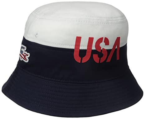 e8c3785e4ac Lacoste Men s Sport Supporter Flag Crocodile Bucket Hat