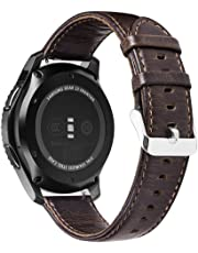 Samsung Gear S3 Watch Band, Premium Vintage Crazy Horse Genuine Leather Strap Replacement Band for Samsung Gear S3 Frontier And S3 Classic Smart Watch (Coffee)